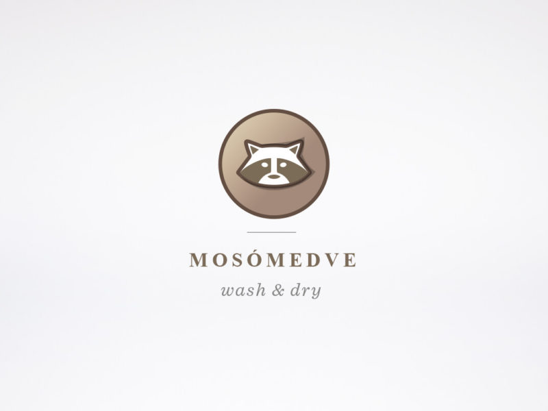 Mosómedve logo concept